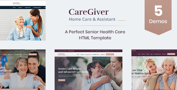 Care Giver - Senior Care & Medical HTML Template