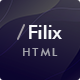 Filix - Creative Portfolio HTML5 Template - ThemeForest Item for Sale
