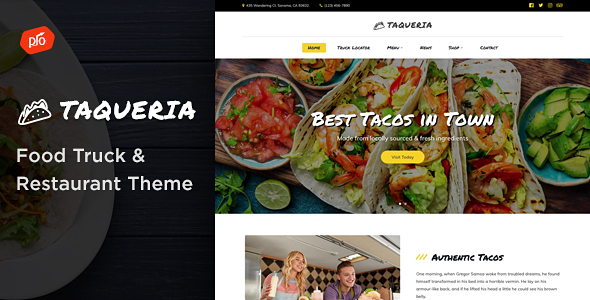 Taqueria - Food Truck & Restaurant Theme