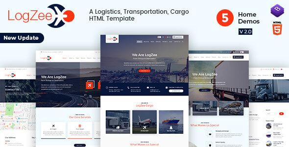 Logzee | Logistics, Transportation, Cargo HTML Template