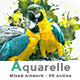 Aquarelle Mixed Artwork   PS Action - GraphicRiver Item for Sale