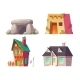 Human Houses History Cartoon Vector Collection - GraphicRiver Item for Sale