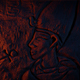 Ancient Egyptian Wall Carving In Fire Glow - VideoHive Item for Sale