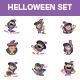 Cartoon Halloween Sticker Set - GraphicRiver Item for Sale