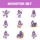 Cartoon Professional Monster Set - GraphicRiver Item for Sale