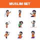 Cartoon Muslim Man Set - GraphicRiver Item for Sale
