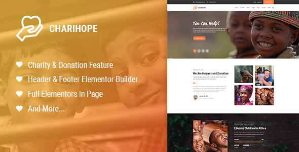 Charihope - Charity and Donation WordPress Theme