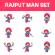 Rajput Man Sticker Set - GraphicRiver Item for Sale