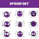 Cartoon Spider Sticker Set - GraphicRiver Item for Sale