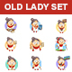 Old Lady Stickers - GraphicRiver Item for Sale