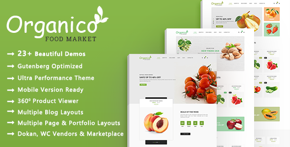 Organico | Healthy Food WooCommerce WordPress Theme
