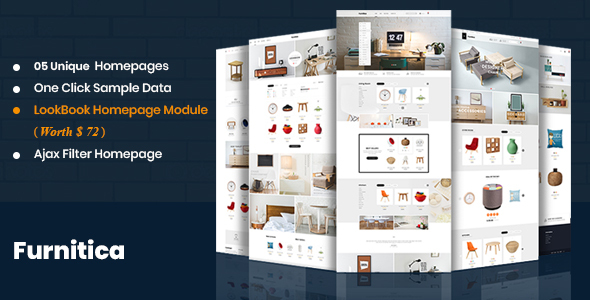 Furnitica - Minimalist Design Responsive PrestaShop 1.7 Theme For Furniture, Decor, Interior