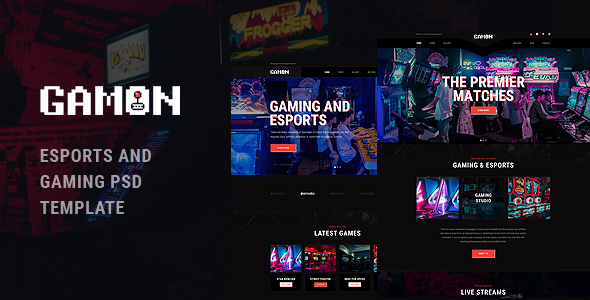 Gamon - eSports and Gaming PSD Template