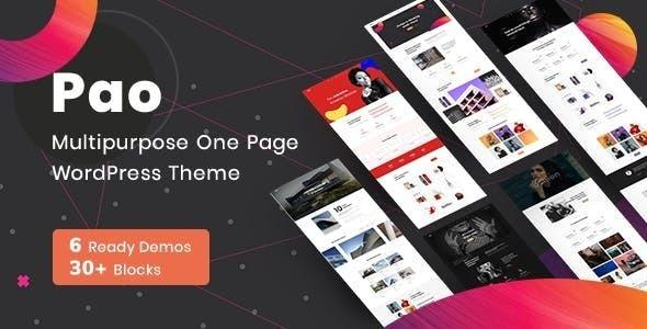 OnePage Parallax PAO -  OnePage  WordPress