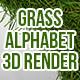 3D Grass Alphabet - GraphicRiver Item for Sale