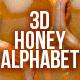 3D Honey Alphabet - GraphicRiver Item for Sale