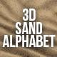 3D Render Set of Sand Alphabet - GraphicRiver Item for Sale