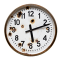 Old rusty round wall clock - PhotoDune Item for Sale