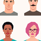 Set of Vector Avatars Icons Men and Women - GraphicRiver Item for Sale