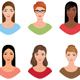 Avatars Women of Different Colors of Skin and Hair - GraphicRiver Item for Sale