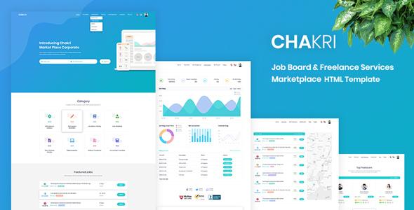 Chakri - Job Board & Freelance Services Marketplace HTML Template
