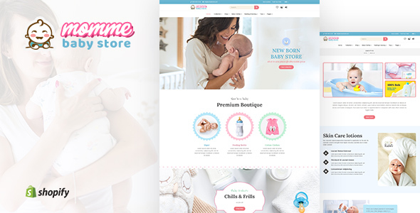 Momme - Baby Apparel & Accesory Shopify Theme