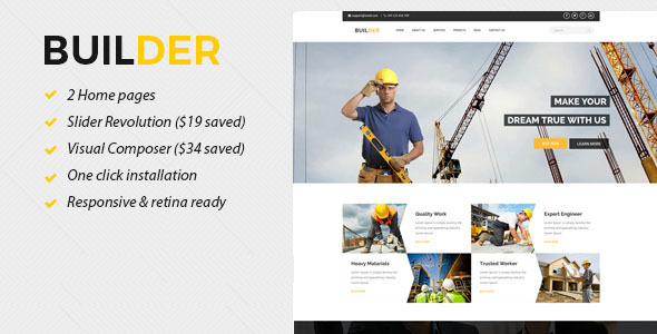 Builder - Construction WordPress Theme