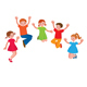 Group of Cheerful Children in a Jump - GraphicRiver Item for Sale