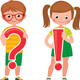 Children Students are Holding a Question and Exclamation Mark - GraphicRiver Item for Sale