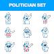 Cartoon Politician Man Stickers - GraphicRiver Item for Sale