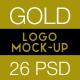 Gold Logo Mockup Pack - 26 PSD - GraphicRiver Item for Sale