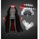 Harlequin Costume with Cape Starched Wig and Mask - GraphicRiver Item for Sale