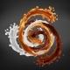 Splash of Caramel Chocolate and Milk Swirl Mix - GraphicRiver Item for Sale