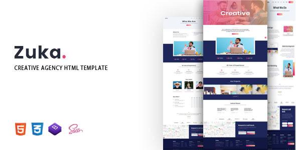 Zuka – Creative Agency HTML Template