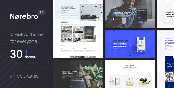 Norebro – Creative Portfolio Theme for Multipurpose Usage Free Download