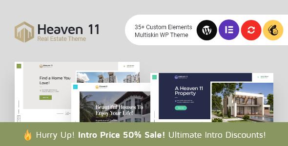Heaven11 | Property & Apartment Real Estate WordPress Theme Free Download