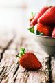 Fresh Organic Strawberries - PhotoDune Item for Sale
