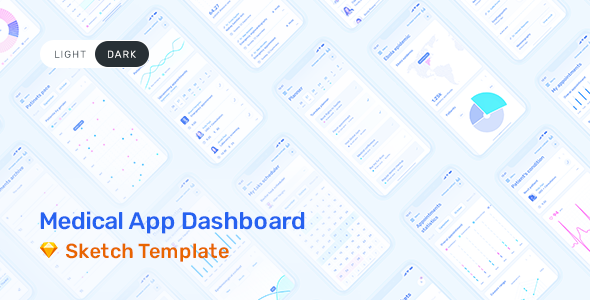 Medux – App Dashboard UI Kit for Sketch