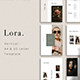LORA - Vertical Powerpoint Presentation Template - GraphicRiver Item for Sale