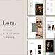 LORA - Vertical Keynote Presentation Template - GraphicRiver Item for Sale