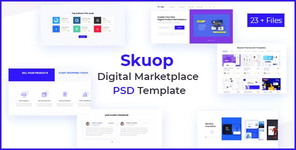 Skuop Digital Marketplace PSD Template