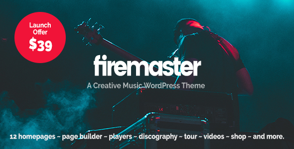 Firemaster - A Creative Music WordPress Theme