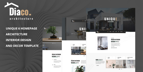Diaco - Architecture & Interior Design HTML Template