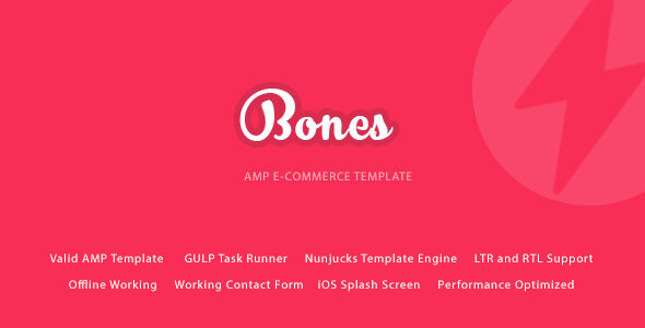 Bones - AMP E-Commerce Mobile Template