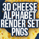 Cheese Alphabet 3D Render Set - GraphicRiver Item for Sale