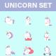 Unicorn Set - GraphicRiver Item for Sale