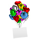 Bunch of Balloons with an Empty Board - GraphicRiver Item for Sale