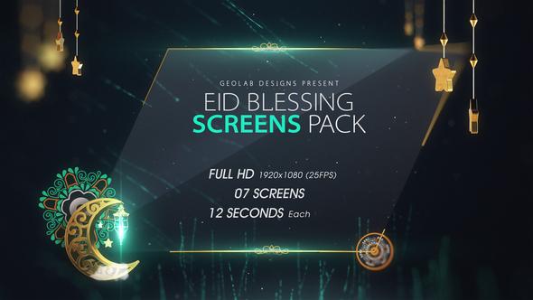 Eid Blessing Screens Pack