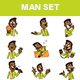 Man Sticker Set - GraphicRiver Item for Sale
