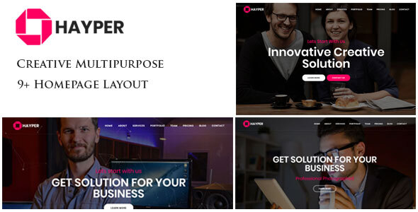 Hayper – Creative Onepage Multipurpose Template